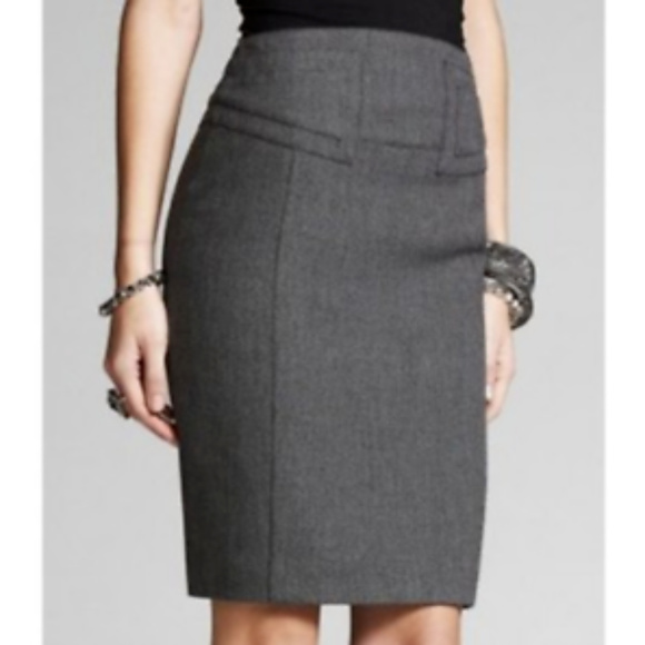 003c68170 Express Dresses & Skirts - Express Dark Gray High Waist Pencil Skirt